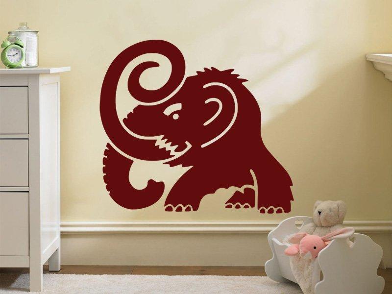 Samolepky na zeď Mamut 001 - Samolepící dekorace a nálepka na stěnu