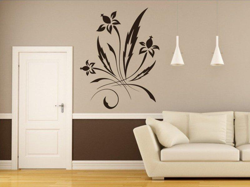 Samolepky na zeď Ornamenty z rostlin 036 - Samolepící dekorace a nálepka na stěnu