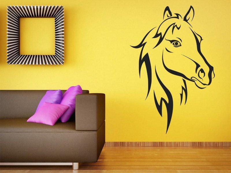 Samolepky na zeď Kůň 011 - Samolepící dekorace a nálepka na stěnu