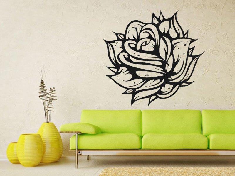 Samolepky na zeď Růže 005 - Samolepící dekorace a nálepka na stěnu