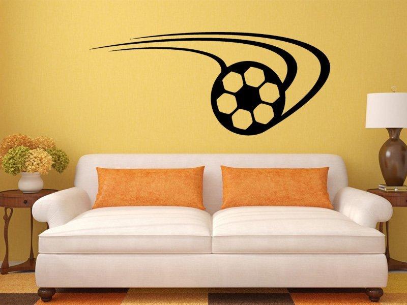 Samolepky na zeď Fotbalový míč 007 - Samolepící dekorace a nálepka na stěnu