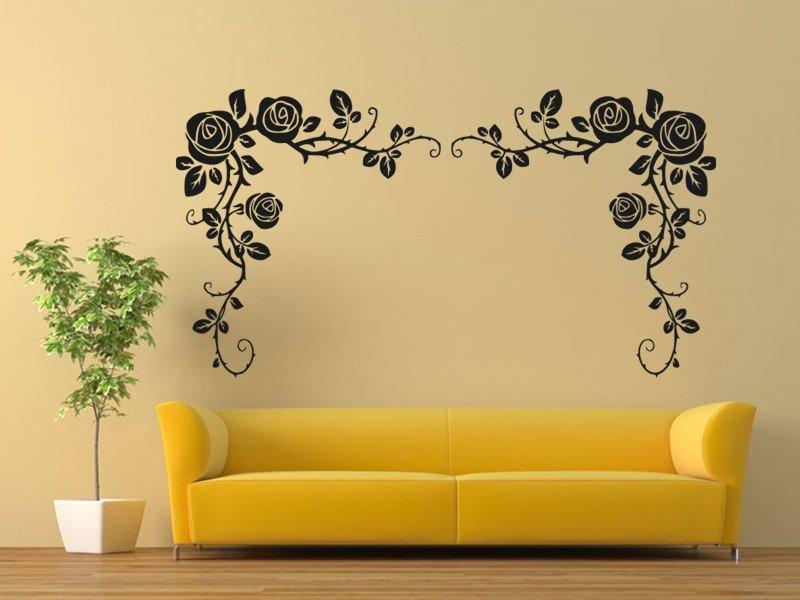 Samolepky na zeď Růže 0185 - Samolepící dekorace a nálepka na stěnu
