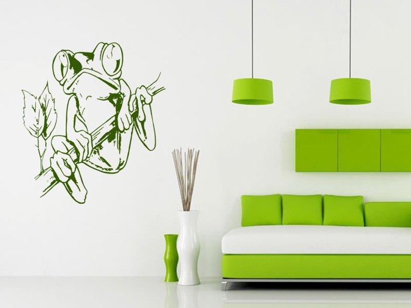 Samolepky na zeď Žába 003 - Samolepící dekorace a nálepka na stěnu