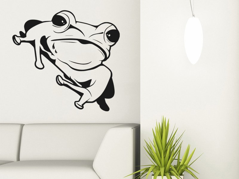 Samolepky na zeď Žába 007 - Samolepící dekorace a nálepka na stěnu