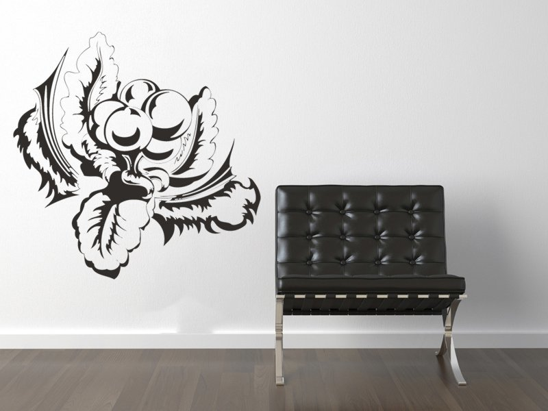 Samolepky na zeď Kytky 002 - Samolepící dekorace a nálepka na stěnu