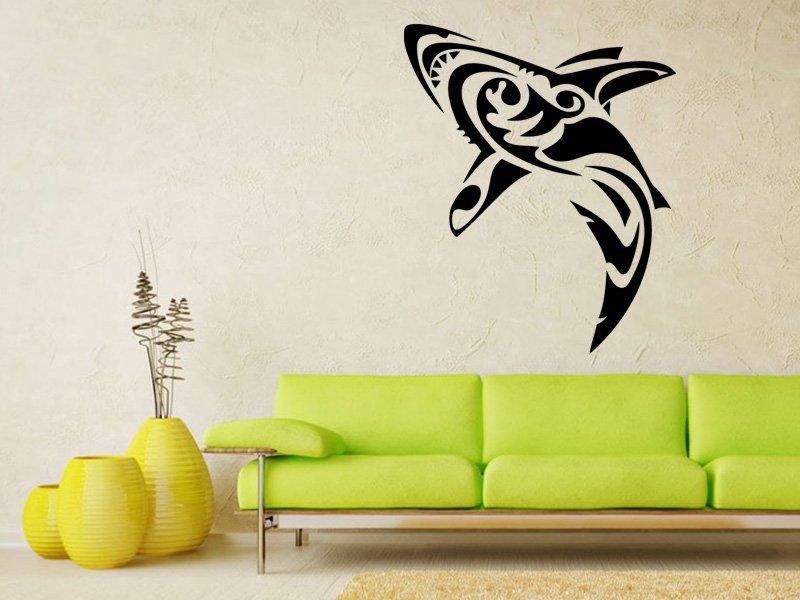 Samolepky na zeď Žralok 006 - Samolepící dekorace a nálepka na stěnu
