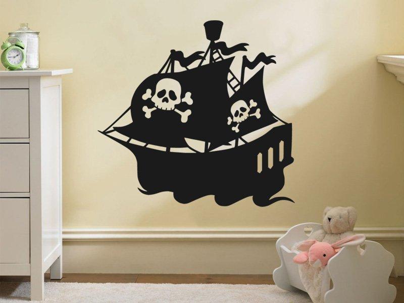 Samolepky na zeď Loď 011 - Samolepící dekorace a nálepka na stěnu