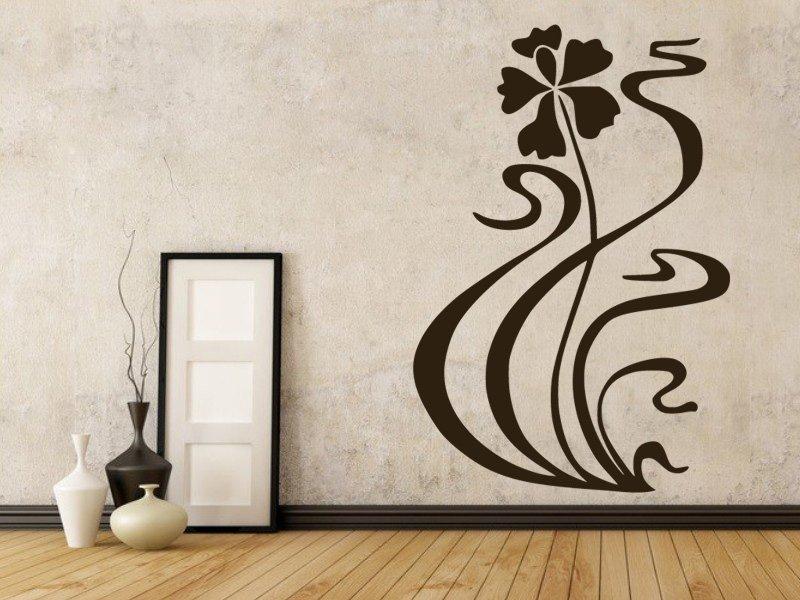 Samolepky na zeď Květiny 045 - Samolepící dekorace a nálepka na stěnu