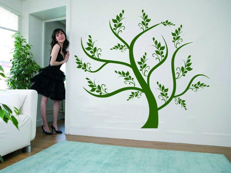 Samolepky na zeď Strom 042 - Samolepící dekorace a nálepka na stěnu
