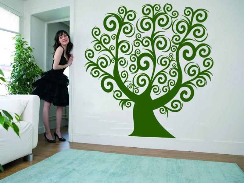 Samolepky na zeď Strom 050 - Samolepící dekorace a nálepka na stěnu