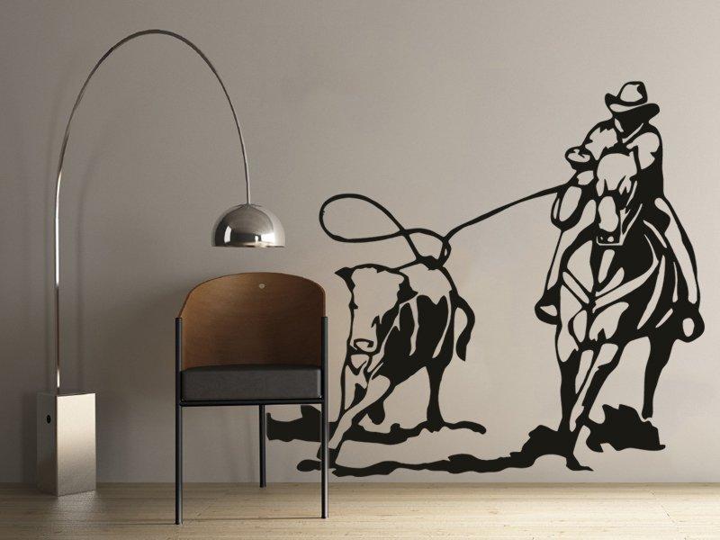 Samolepky na zeď Kovboj 002 - Samolepící dekorace a nálepka na stěnu