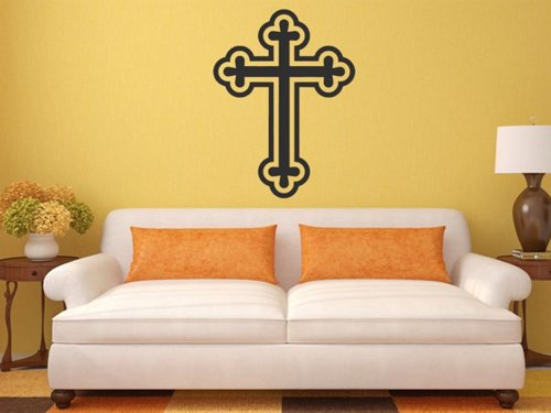 Samolepky na zeď Křesťanský kříž 1375