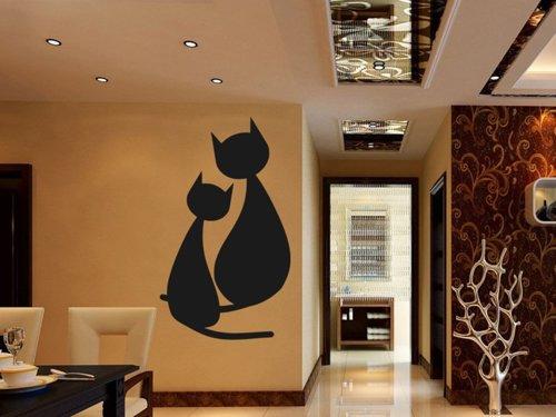 Samolepky na zeď Dvě kočky 0433