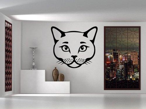 Samolepky na zeď Kočka 0492