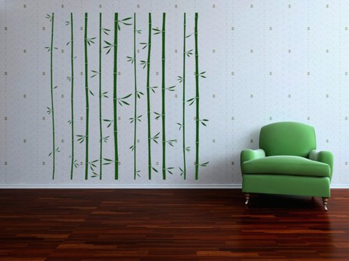 Samolepky na zeď Bambus 011