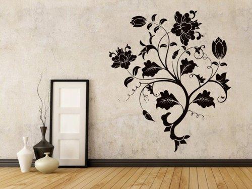 Samolepky na zeď Květiny 031