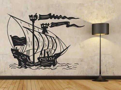 Samolepky na zeď Loď 0947