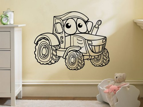 Samolepky na zeď Traktor 0723