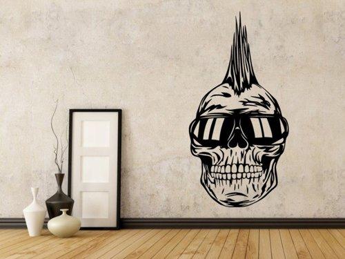 Samolepky na zeď Punk lebka 1206