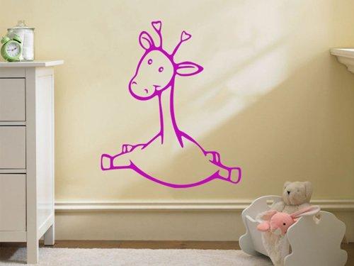 Samolepky na zeď Žirafka 001