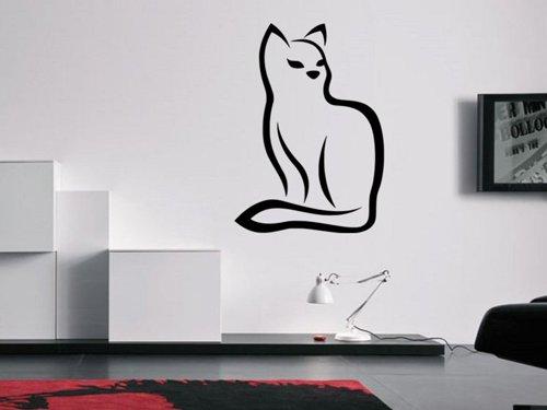 Samolepky na zeď Kočka 0484