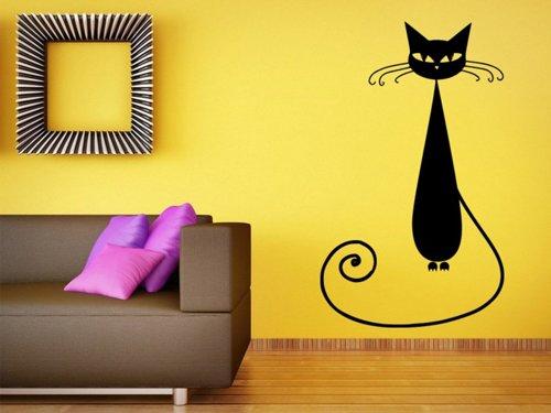 Samolepky na zeď Kočka 005