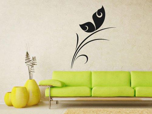 Samolepky na zeď Rostlina s motýlem 0193