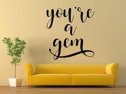 Samolepky na zeď Nápis You're a gem 0638