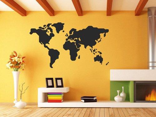 Samolepky na zeď Mapa světa 1232