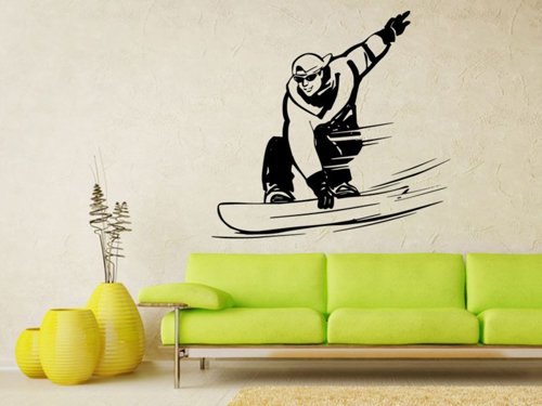 Samolepky na zeď Snowboardista 004