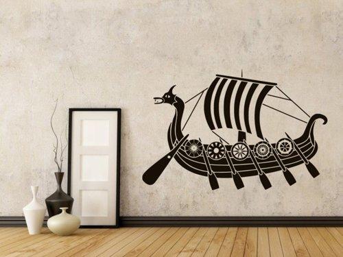 Samolepky na zeď Vinkingská loď 0922