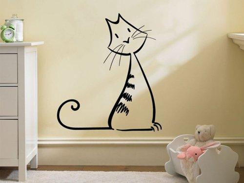 Samolepky na zeď Kočka 0495
