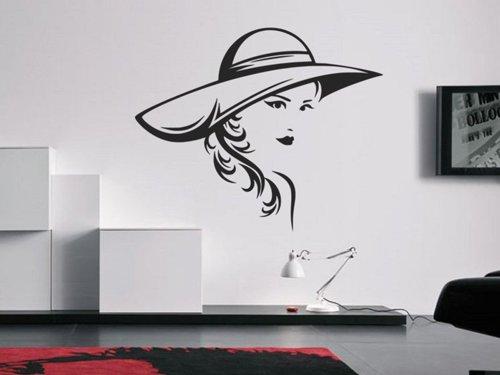 Samolepky na zeď Žena s kloboukem 1089
