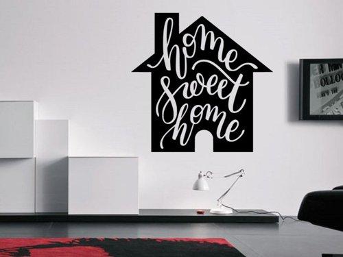 Samolepky na zeď Nápis Home Sweet Home 0635