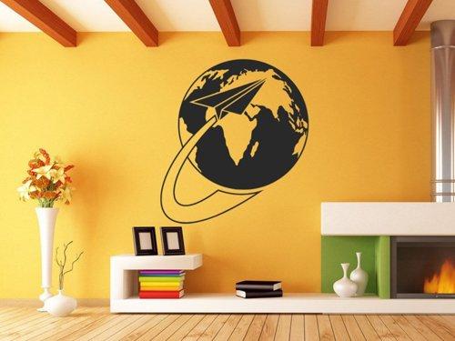 Samolepky na zeď Planeta Země s vlaštovkou 1228