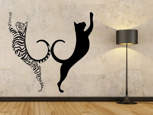 Samolepky na zeď Dvě kočky 0462