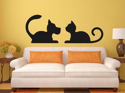 Samolepky na zeď Kočka a pes 0567