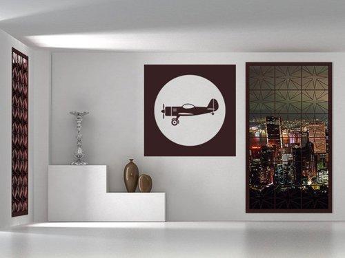 Samolepky na zeď Letadlo 0852