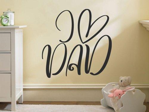 Samolepky na zeď Nápis I love dad 0640