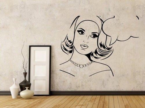 Samolepky na zeď Retro žena z komiksu 1071