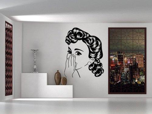 Samolepky na zeď Retro žena z komiksu 1069
