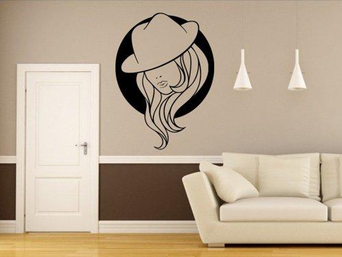 Samolepky na zeď Žena v klobouku 1081