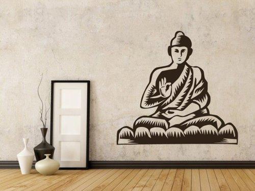 Samolepky na zeď Sedící Budha 1296