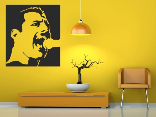 Samolepky na zeď Freddie Mercury 1360