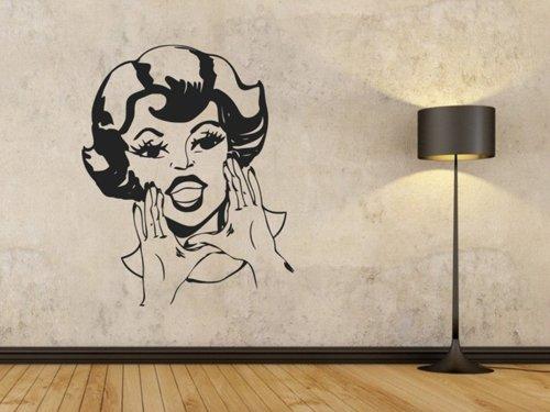 Samolepky na zeď Retro žena 1086
