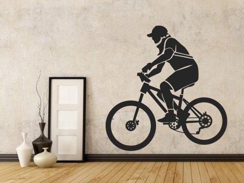Samolepky na zeď Cyklista 001