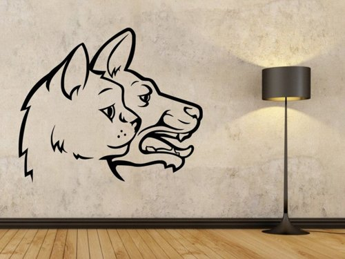 Samolepky na zeď Kočka a pes 0569