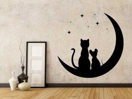 Samolepky na zeď Kočka a myš 0481