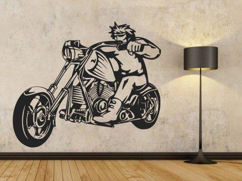 Samolepky na zeď Motorkář 1003