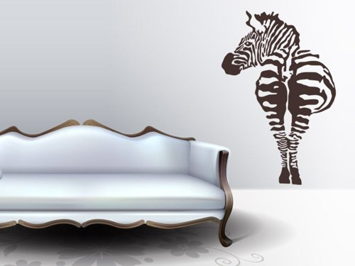 Samolepky na zeď Zebra 004